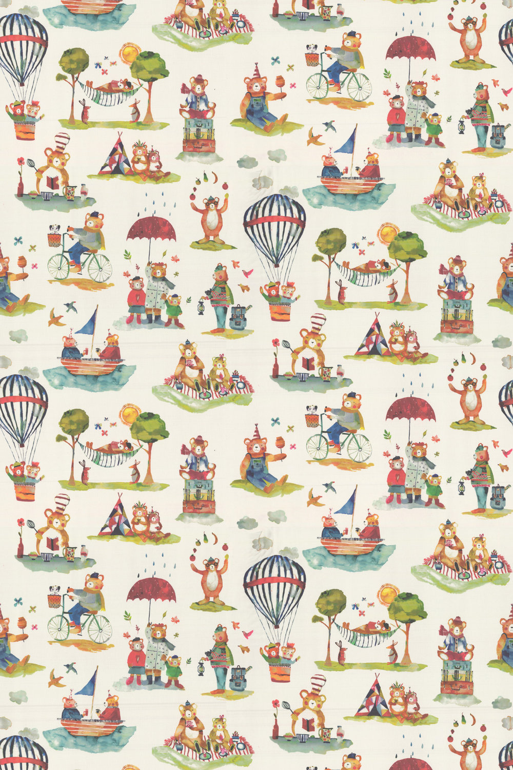 Little Bear Fabric - Vintage - by Prestigious