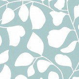 Caselio Lianes En Foile Pale Blue Wallpaper