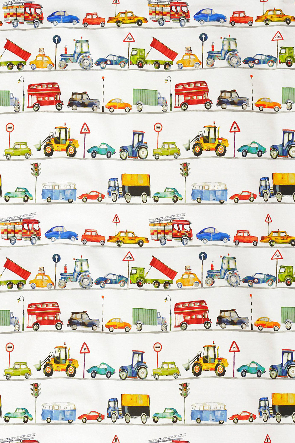 On the Road Fabric - Paintbox - by Prestigious