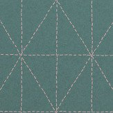 Galerie Diamond Stitch Teal Wallpaper
