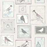 SK Filson Framed Birds Lilac Wallpaper - Product code: FI2503