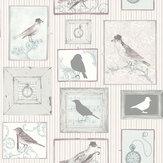 SK Filson Framed Birds Lilac Wallpaper