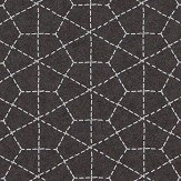 Galerie Hexagon Stitch Black Wallpaper