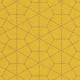 Galerie Hexagon Stitch Yellow Wallpaper - Product code: 219044
