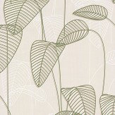 Galerie Leaf Outline Cream and Green Wallpaper - Product code: 219051