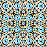 SK Filson Moroccan Tiles Yellow and Blue Wallpaper