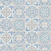 SK Filson Mozaic Tiles Blue Wallpaper
