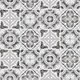 SK Filson Mozaic Tiles Silver Wallpaper