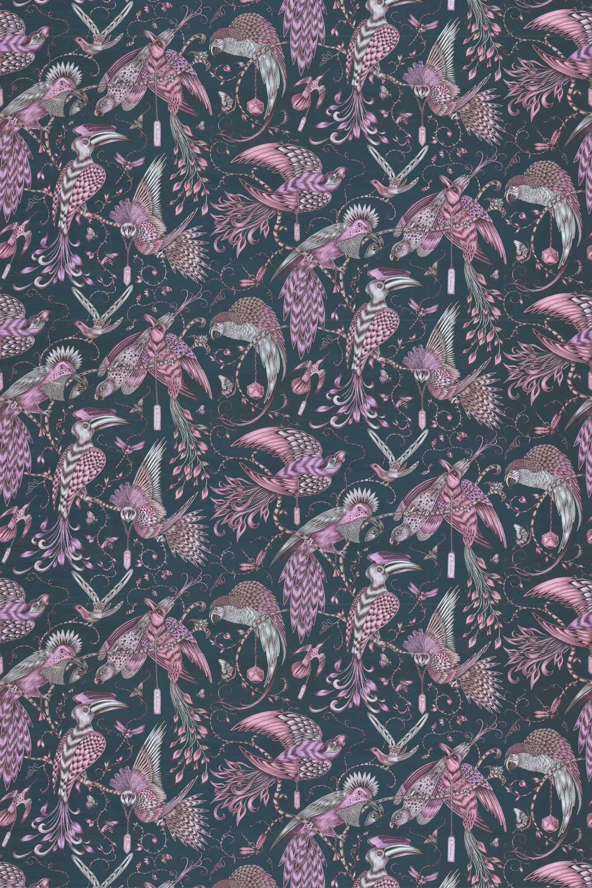 Emma J Shipley Audubon Pink Fabric - Product code: F1108/04