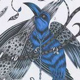 Clarke & Clarke Audubon Blue Fabric - Product code: F1108/01