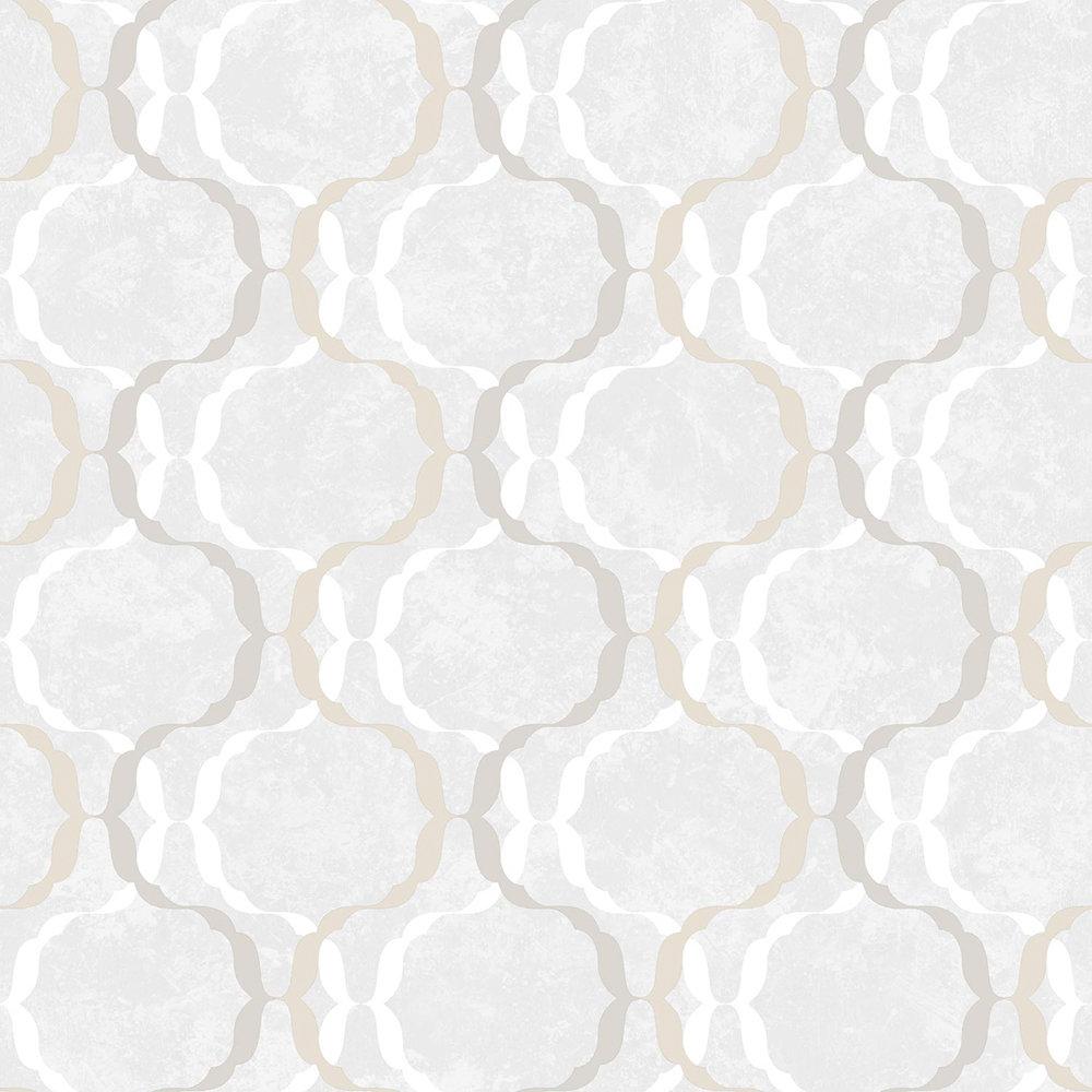 SK Filson Diamond Trellis Ivory Wallpaper - Product code: SK10030