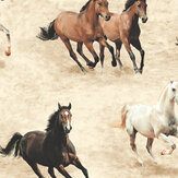 SK Filson Galloping Horses Stone Wallpaper