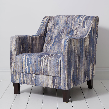Hampton Chair - Latour Armchair - Indigo - by Clarke & Clarke