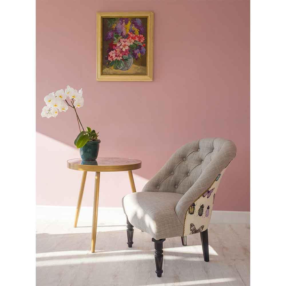 Soho Chair - Papilio Armchair - Heather - by Clarke & Clarke