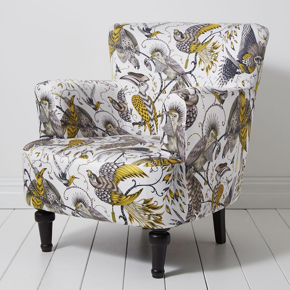 Dalston Chair - Aubudon Armchair - Gold - by Emma J Shipley