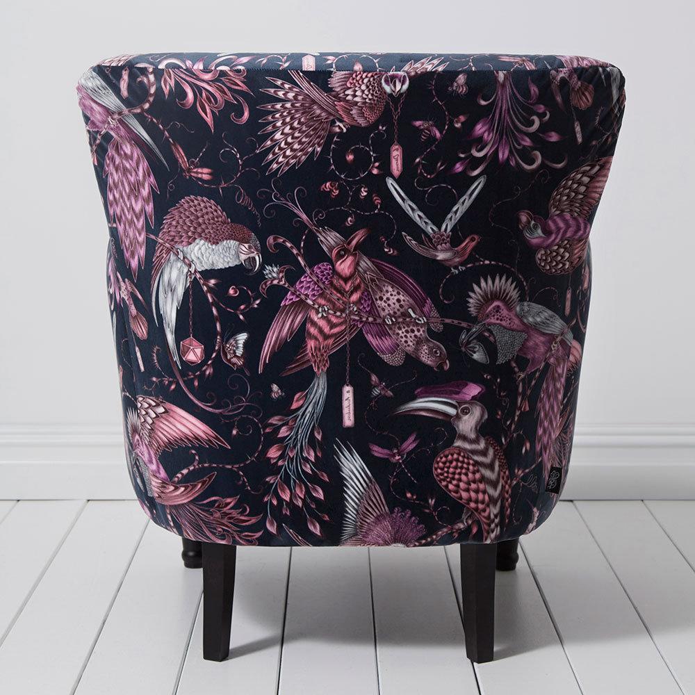 Dalston Chair - Aubudon Armchair - Pink - by Emma J Shipley