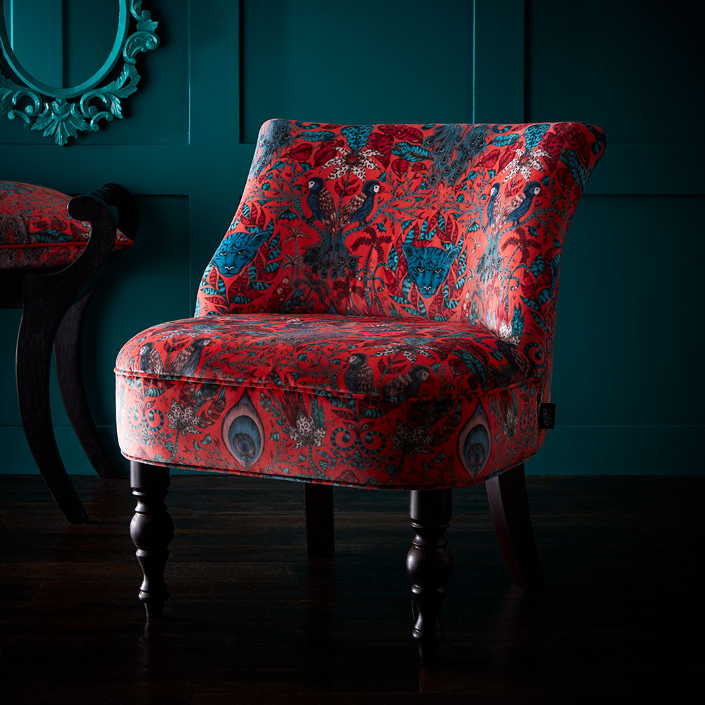 Langley Chair - Amazon Armchair - Red - by Emma J Shipley