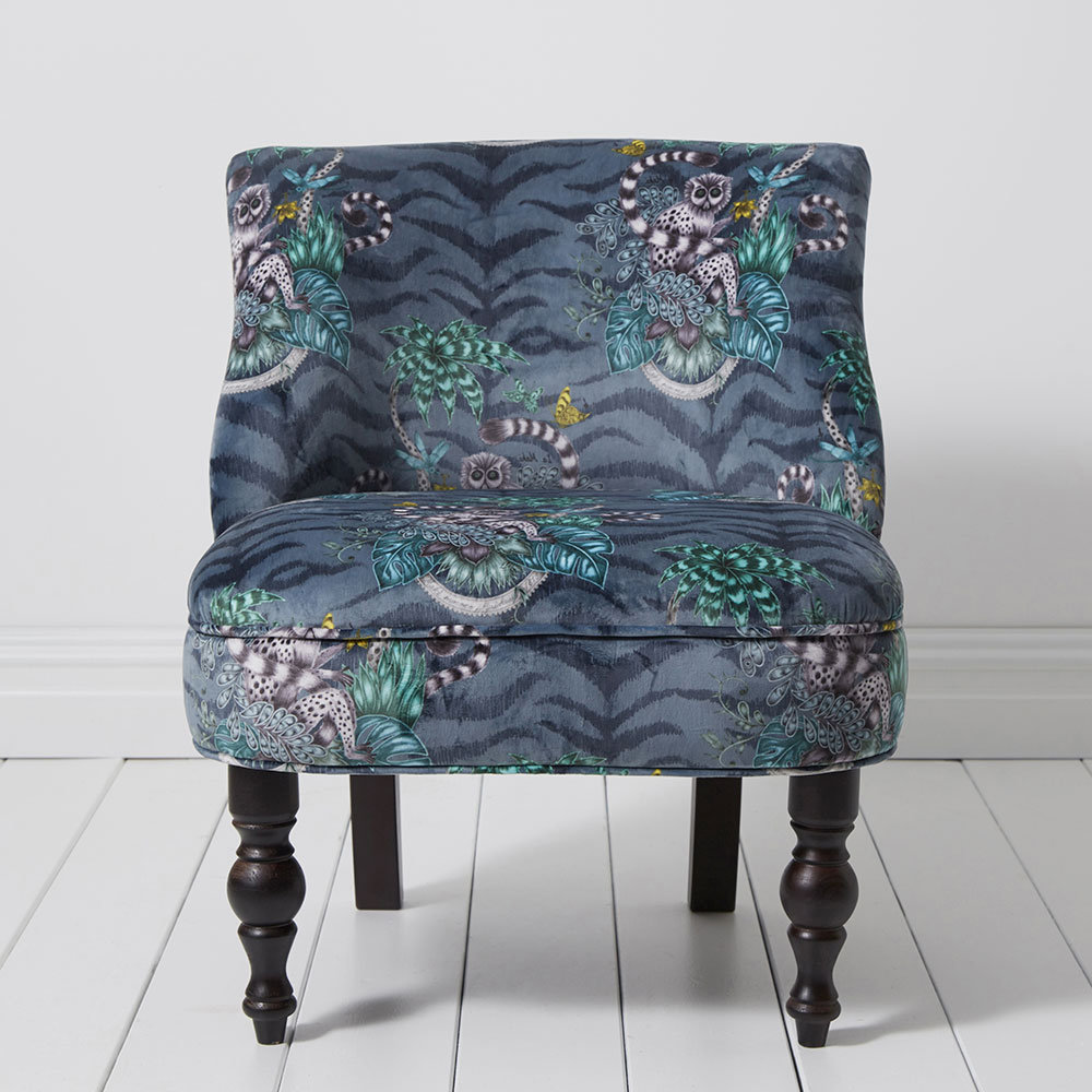 Langley Chair - Lemur Armchair - Navy - by Emma J Shipley