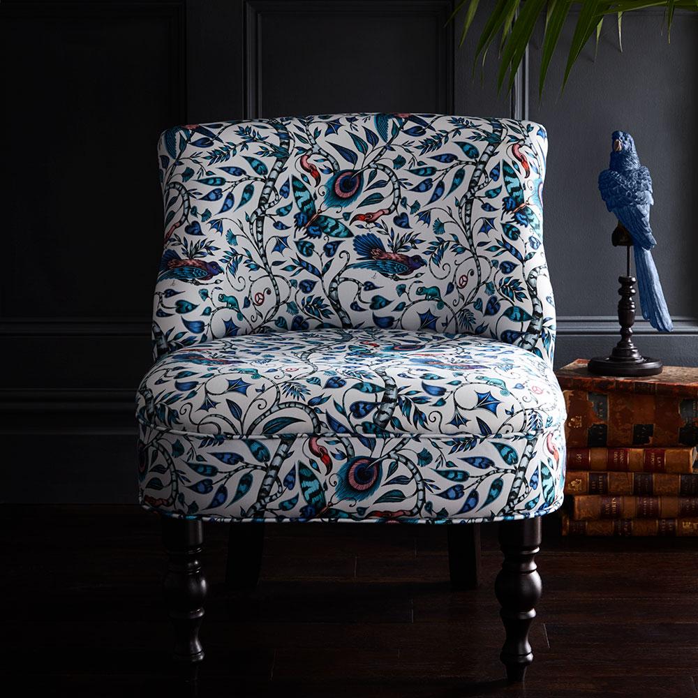 Langley Chair - Rousseau Armchair - Blue - by Emma J Shipley