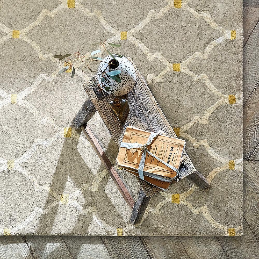 Empire Trellis Rug - Stone - by Sanderson