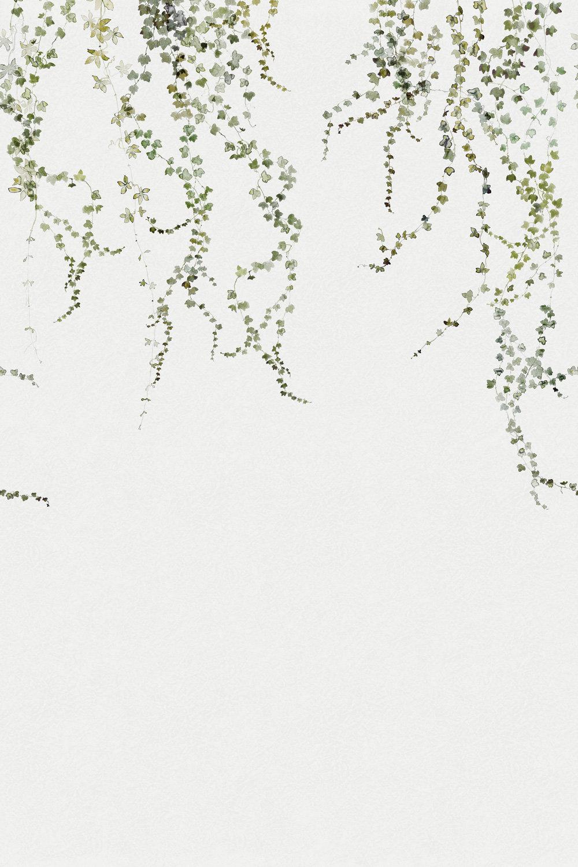 Aralia Mural - Green / White - by Sandberg