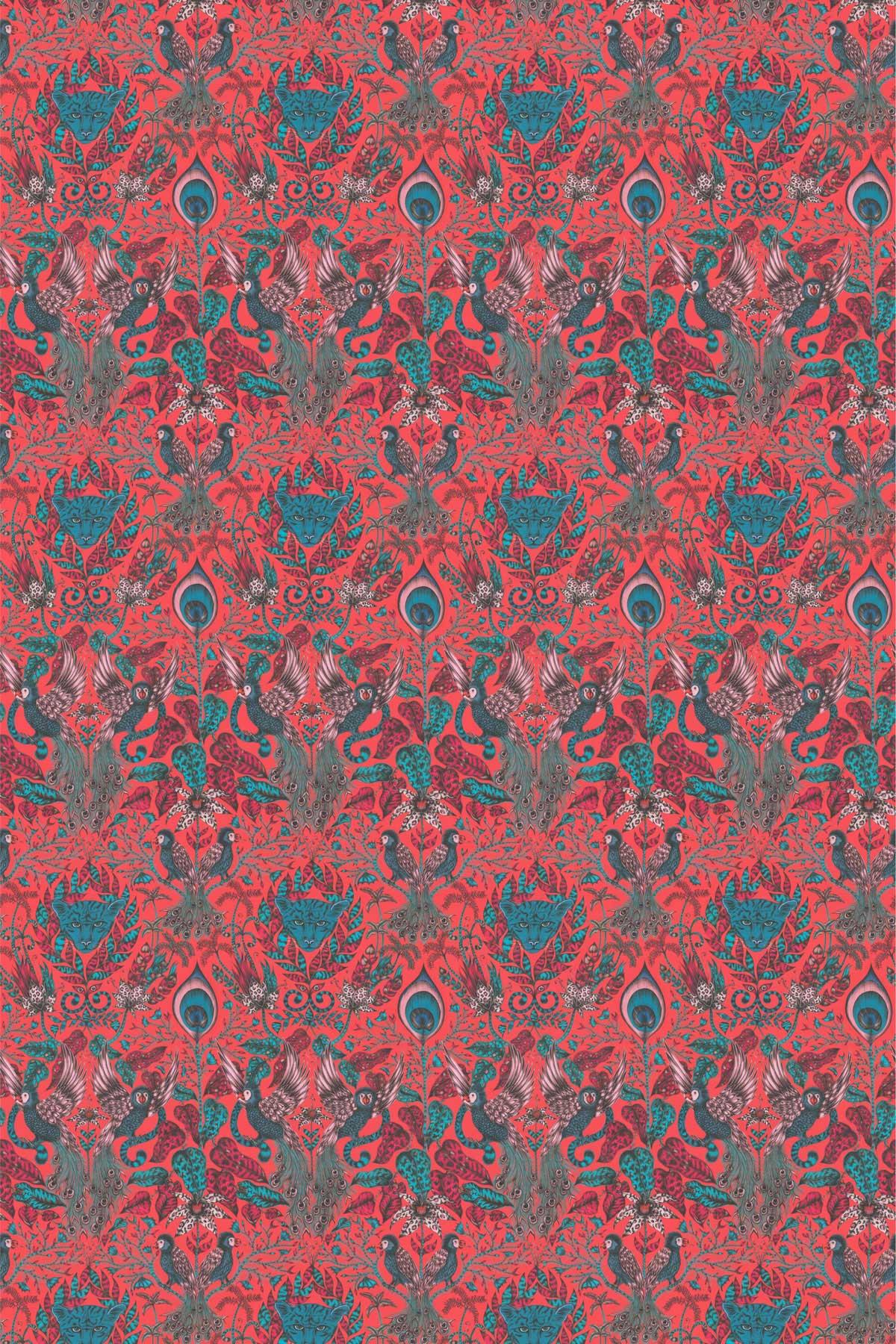 Amazon Fabric - Red - by Emma J Shipley