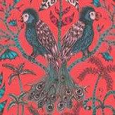 Clarke & Clarke Amazon Velvet Red Fabric - Product code: F1206/01