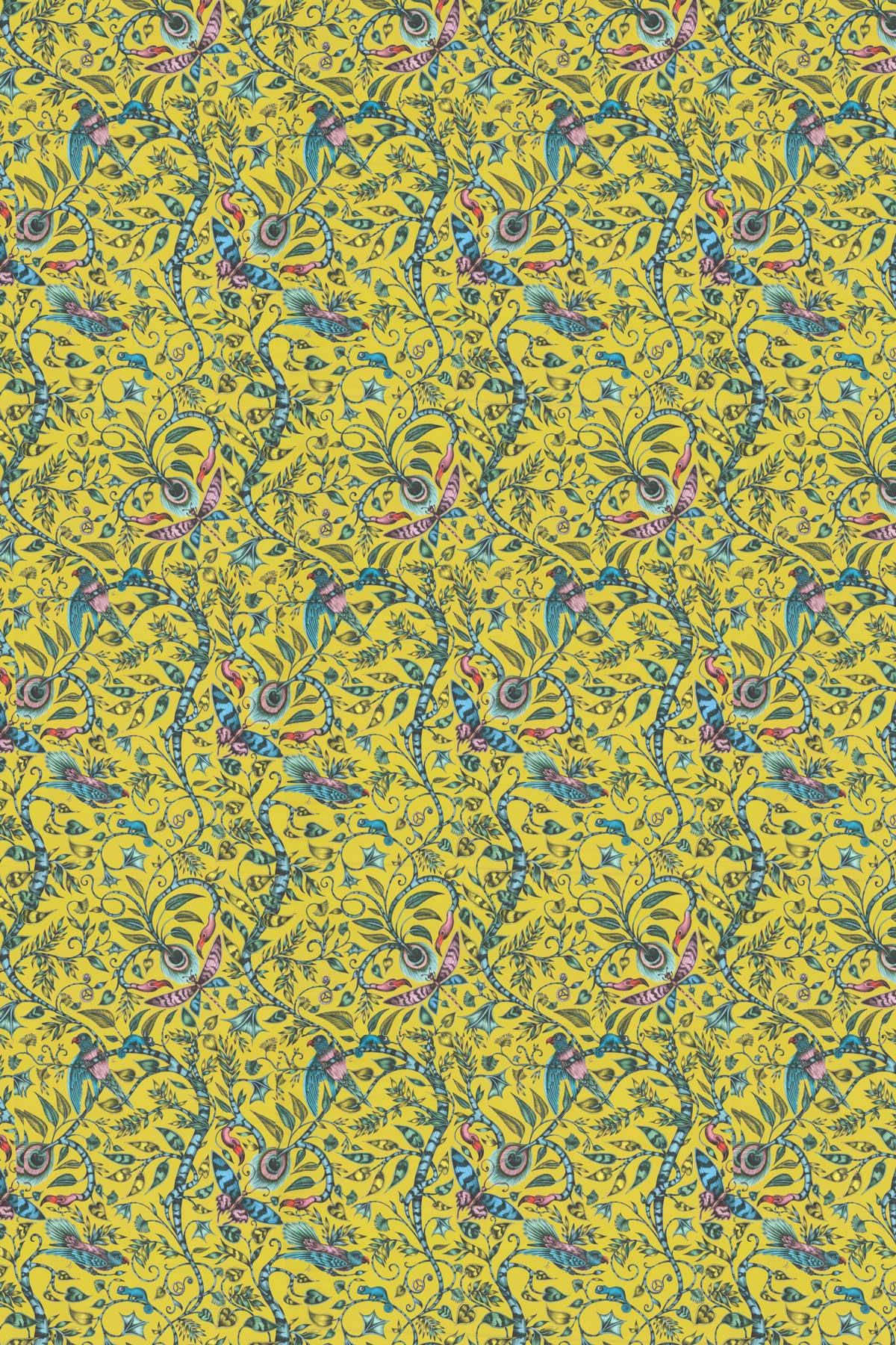 Emma J Shipley Rousseau Velvet Lime Fabric - Product code: F1212/01