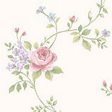 Galerie Rose Trail Pink and Lilac Wallpaper