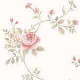 Galerie Rose Trail Dusky Pink and Green Wallpaper