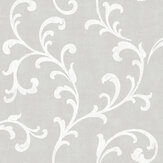 SK Filson Trellis Scroll Grey Wallpaper