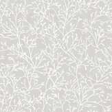 SK Filson Floral Twigs Silver Wallpaper