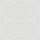 SK Filson Paisley Motif Silver Wallpaper