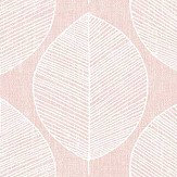 Arthouse Scandi Leaf Pink Wallpaper