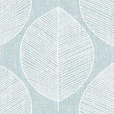 Arthouse Scandi Leaf Teal Wallpaper