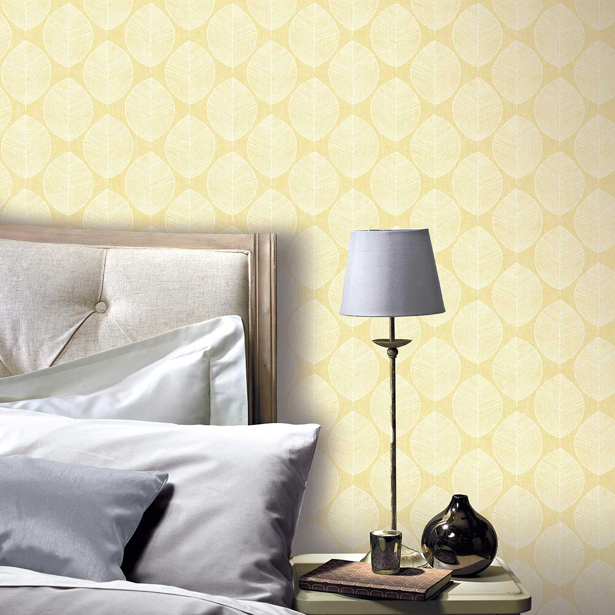 Arthouse Scandi Leaf Yellow Wallpaper - Product code: 908202