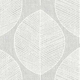 Arthouse Scandi Leaf Grey Wallpaper