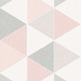 Arthouse Scandi Triangle Pink Wallpaper