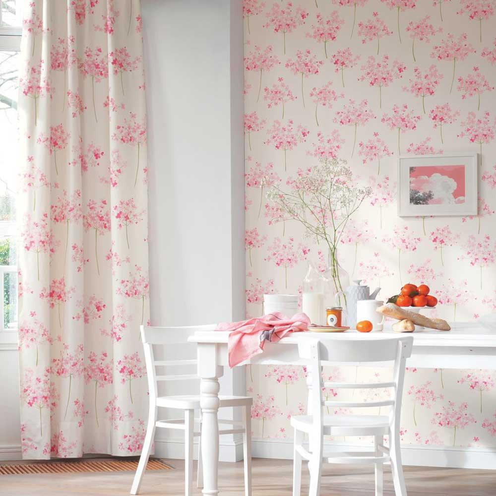 Boboli Wallpaper - Rose - by Casadeco