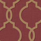 Albany Laticia Red / Gold Wallpaper