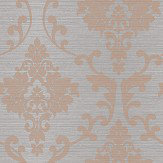 Albany Kaluna Damask Grey / Rose Gold Wallpaper - Product code: 65502