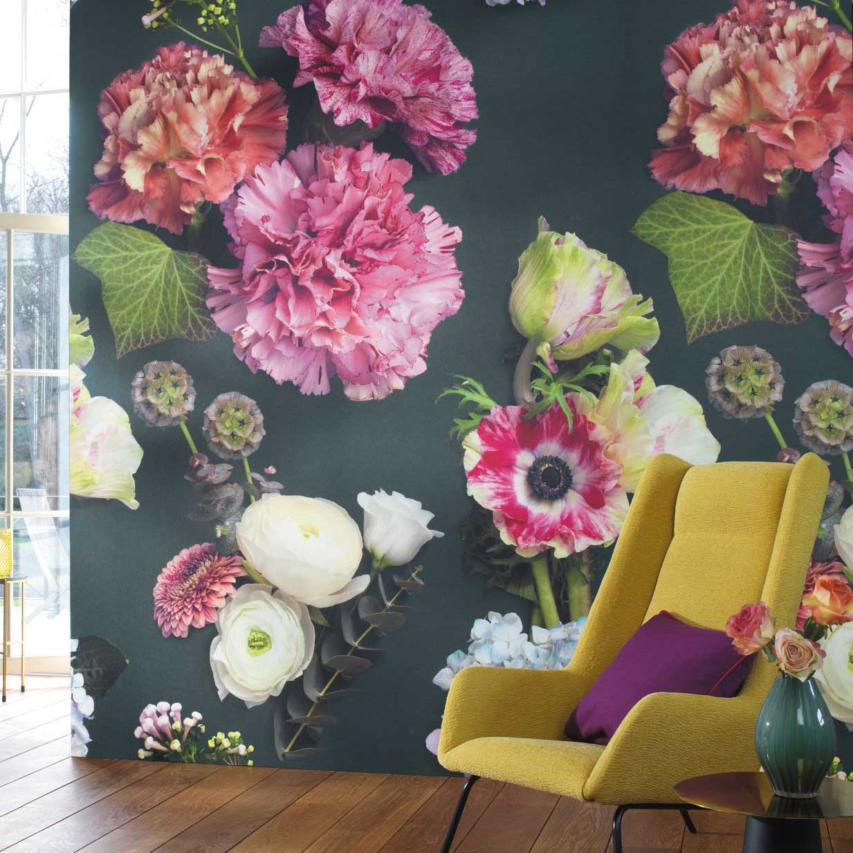 Luxuriante Wall Mural - Multi-coloured - by Casadeco