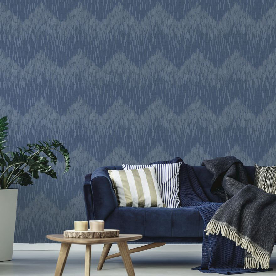 Albany Fragment Navy Wallpaper - Product code: 65412