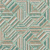 Elizabeth Ockford Pyrite Aqua Wallpaper - Product code: WP0140405