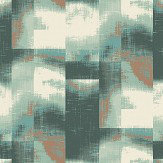 The Paper Partnership Clouds Aqua Wallpaper