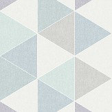 Arthouse Scandi Triangle Teal Wallpaper