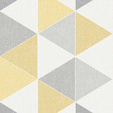 Arthouse Scandi Triangle Yellow Wallpaper