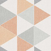 Arthouse Scandi Triangle Orange Wallpaper