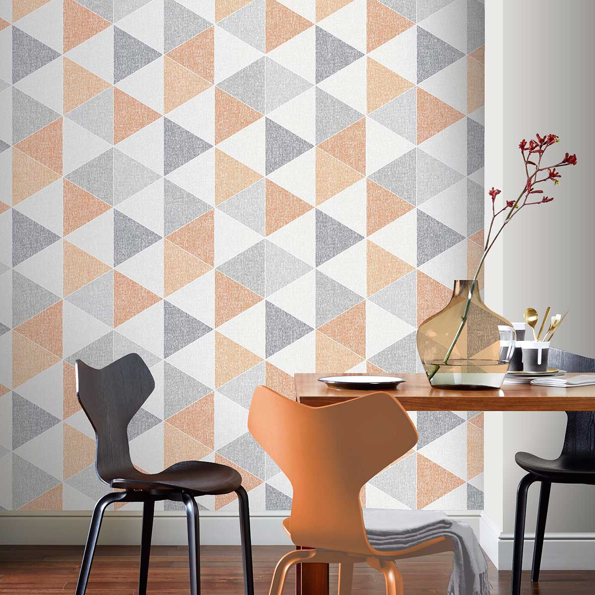 Arthouse Scandi Triangle Orange Wallpaper - Product code: 908207