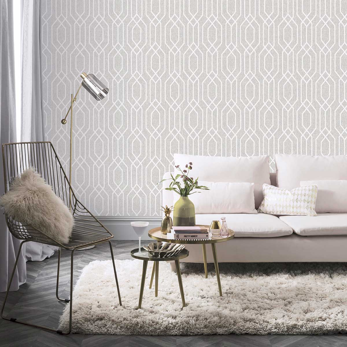 Arthouse New York Geo Grey Wallpaper - Product code: 908300